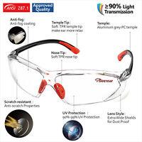12 x SAFEYEAR Safety Glasses Orange Anti-fog Anti-scratch Anti-UV Frameless Lab