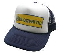 Husqvarna Motocross Hat Trucker hat Snap back Navy Blue motorcycles cap New