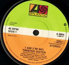"TWISTED SISTER i am (i'm me)/sin after sin A 9854 uk atlantic 1983 7"" WS VG/"