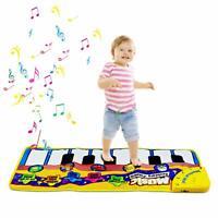 Baby Piano Mat Carpet Toddler Gym Activity Play Musical Playmat Carpet Dance NEW