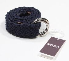 "NWT! RODA Navy Blue Basket Braided Casual Cotton Ring Belt XS 28"" Waist"