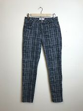 CAbi 3049 Skinny Ankle Jeans Printed Pants Grid Plaid Women's Size 8 U91