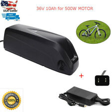 Lithium Battery With Charger for Electric Ebike Bicycle 36V 10Ah 350W/500W USA