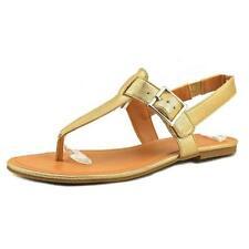Calzado de mujer sandalias con tiras planos sintético
