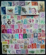 100 DIFFERENT USED STAMPS FROM EUROPE. OFF PAPER