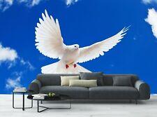 White Dove  Photo Wallpaper Wall Mural DECOR Paper Poster Free Paste