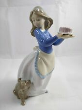 Nao by Lladro Puppy'S Birthday Figurine 1045 Porcelain Girl and Puppy with Cake