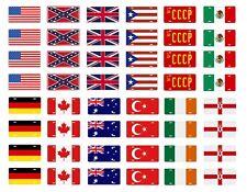 1/24 1/25 scale model car flag license plates tags USA CCCP Mexico