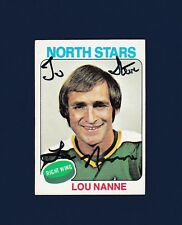 Lou Nanne signed Minnesota North Stars 1975-76 Topps hockey card