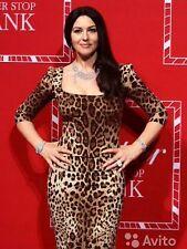 Dolce & Gabbana Leopard-Print 3/4-Sleeve Dress, Brown/Black Leopard