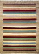 Rugstc 6.5x10 Senneh Gabbeh Multicolor Alfombra, Vegetal Tinte, Anudado a Mano,