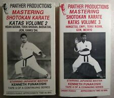 Panther Productions Mastering Shotokan Karate Katas Vol 2/3 VHS Lot - Funakoshi