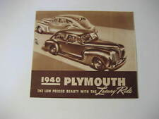 1940 Plymouth Car Advertising Brochure