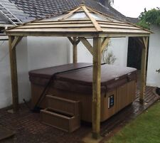 3.0m Wooden Gazebo - Clear Atrium Window - Fully Built by Hand (Not KIT)