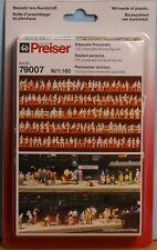 Preiser 79007, Spur N, 120 unbemalte Miniatur Figuren: sitzende Personen