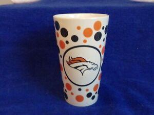 Broncos Football Denver Polka Dot Orange Blue Coffee Mug  16oz Horse
