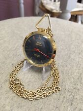 Vintage Pendent Watch HMT Sona 8S 17J, India W/24 in. Chain WORKING, NICE