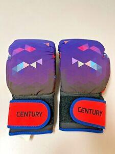 Century Strive 10oz Washable Purple Geometric Design Boxing Gloves, Ladies