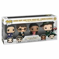 Harry Potter Funko Pop 4 Pack Special Edition Snape Harry Parvati & McGonagall