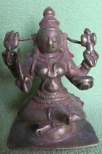 OLD  INDIAN HINDU GODDESS DURGA BRONZE METAL PIECE STATUE HOME DECOR FIGURINE