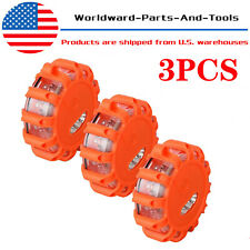 Lot of 3 LED Safety Flare Emergency Warning Disc Light Flashing Roadside Beacon