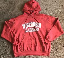 Wisconsin Badgers Granite Heather Champion Campus Powerblend Screened Hoodie Swe