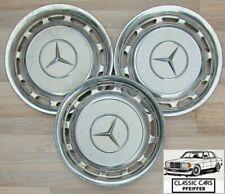 Mercedes W123 S123 Radkappen 3 Stück Weiß Radzierblenden Chromkappen Set