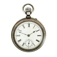 Antique Waltham Bond St. Model 1884 Hand Wind Pin Set Open Face 14s Pocket Watch