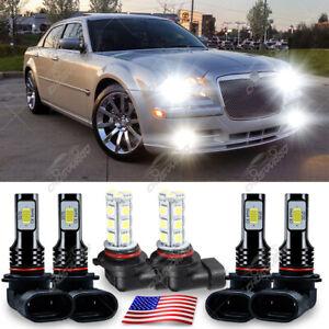 Para For Chrysler 300 2005 2006-2008 2009 2010 Kit de faros LED + luz antiniebla