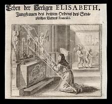 santino incisione 1600 B.ELISABETTA ACHLER DI REUTE