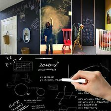 Kids Large DIY 100X45cm Sticker Vinyl Chalkboard Removable Wall Blackboard