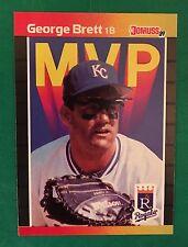 1989 Donruss MVP  #BC7 George Brett Kansas City Royals Baseball Card NM