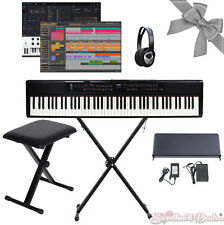 Artesia PE88 Mobile 88 Key Digital Piano Keyboard w/ XStand XBench