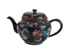 Japanese Cloisonne Enamel and Gold Stone Flakes Teapot, 19th Century