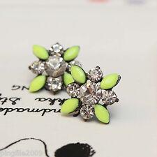 """Hot Handmade New Design Multi Color Bling Rainbow Stud Earring 13/16"""" 296"""