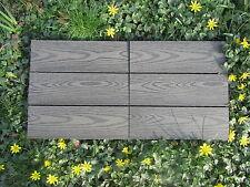 Eco friendly Composite Decking Tiles wood grain effect Sandstone or Slate Grey