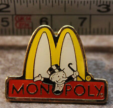 McDonalds Monopoly Arches Pennybags Employee Collectible Pinback Pin Button