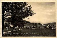 Schellerhau Erzgebirge Postkarte 1941 Blick vom Gabelweg auf den oberen Ortsteil