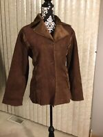 Womens MKM Designs Brown Faux Shearling Jacket Size Large