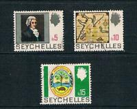 Seychelles 1969 Top High Values - History Set - SC 269-271 [SG 277-279] USED 20