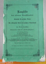 Rango lista de realeza prusiano ejército 1913 activo servicio Stand