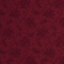 E500 Burgundy Floral Jacquard Woven Upholstery Grade Fabric By The Yard