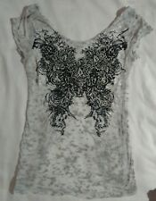 White gray black open back tie backless top blouse shiny cotton polyester