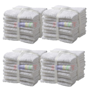 24 Pack Home Collection 100% Cotton Washcloth 11x11 Inches Hotel Cleaning Hands