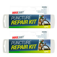 13 Piece Puncture Repair Kit Bike Cycle Travel Size Inner Tube Glue Patch Chalk