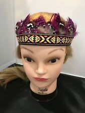 American Eagle Outfitters Pink Feather Crown Headband Tribal Festival Headdress