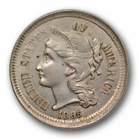 1865 Three Cent Nickel Uncirculated High End Mint State US Coin #10675