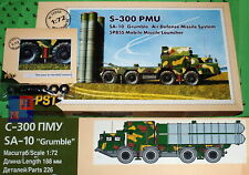 "1/72. S-300/5P85S main missile launcher scale kit,  by ""PST"" 72050 + A002"