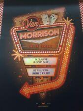 Van Morrison 2017 DKNG screen print Poster Las Vegas NV Caesar's Palace FOIL PP