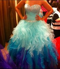 Vestidos de 15 Anos Princess Quinceanera Dress Beads Sweetheart Ruffle Prom Gown
